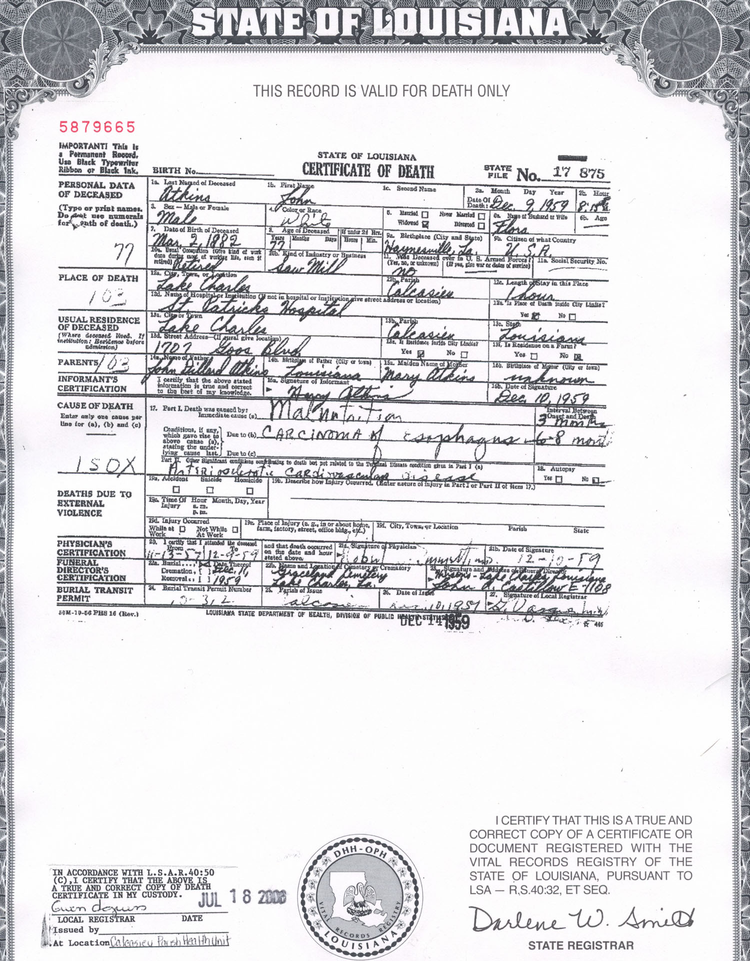 Louisiana Death Records Louisiana Secretary of State - akross.info